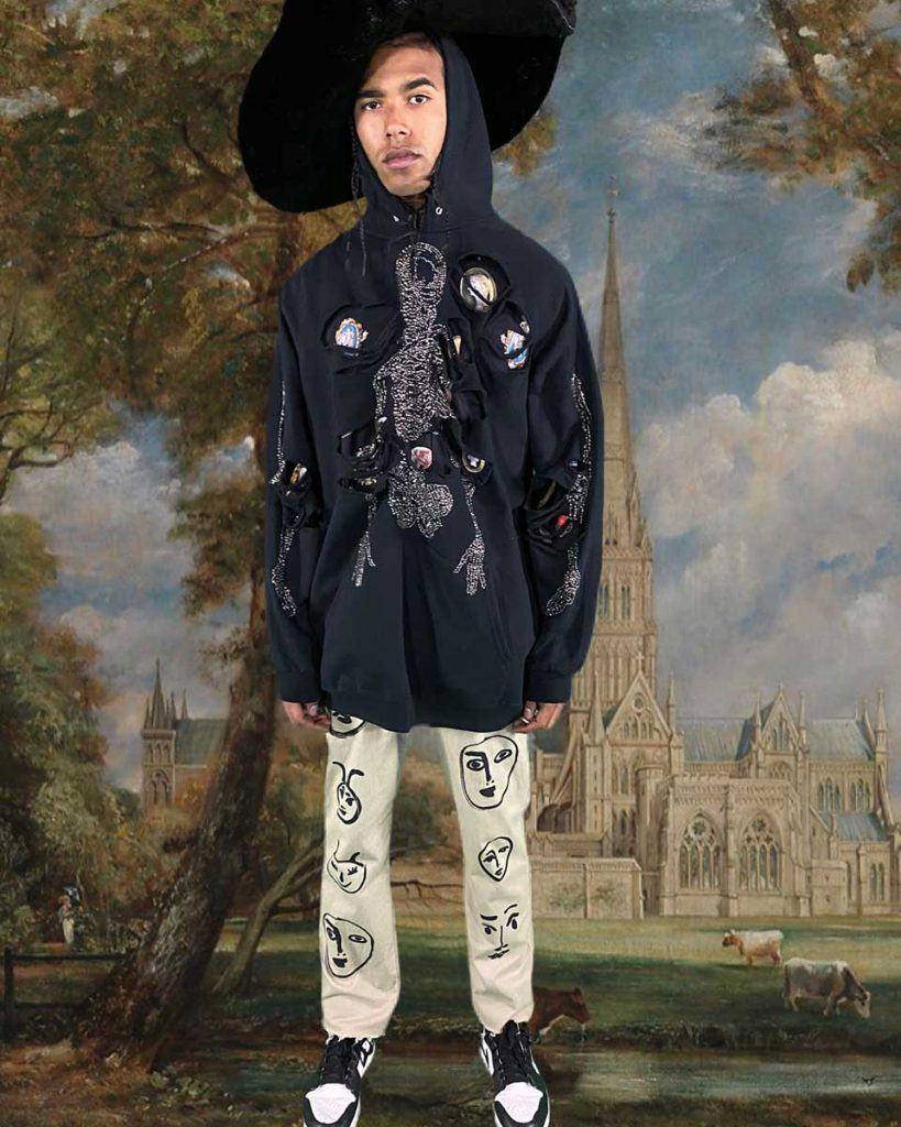 Libertine for Fall2021 - Look #39. Reserved magazine.