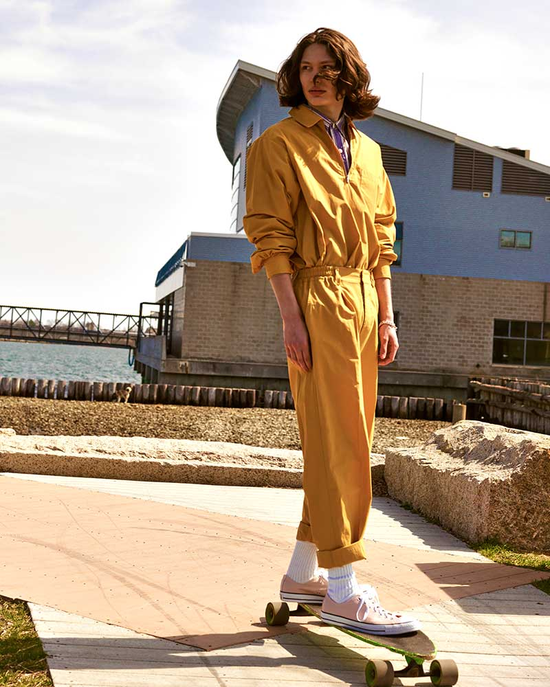 Skater menswear editorial by Kolby Knight, starring model Lucas Brenner. Image #4.